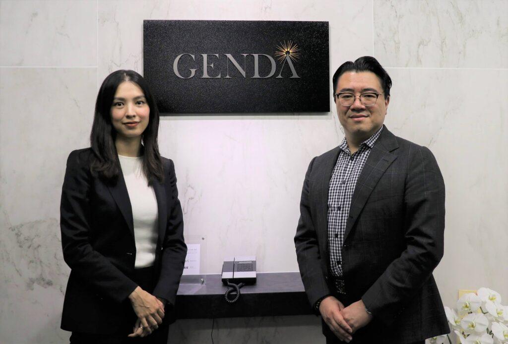 GENDA 片岡尚・代表取締役会長、申真衣・代表取締役社長